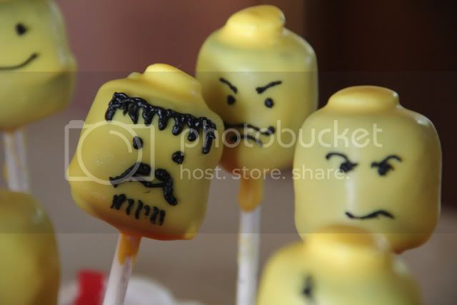 mean guy lego cake pops